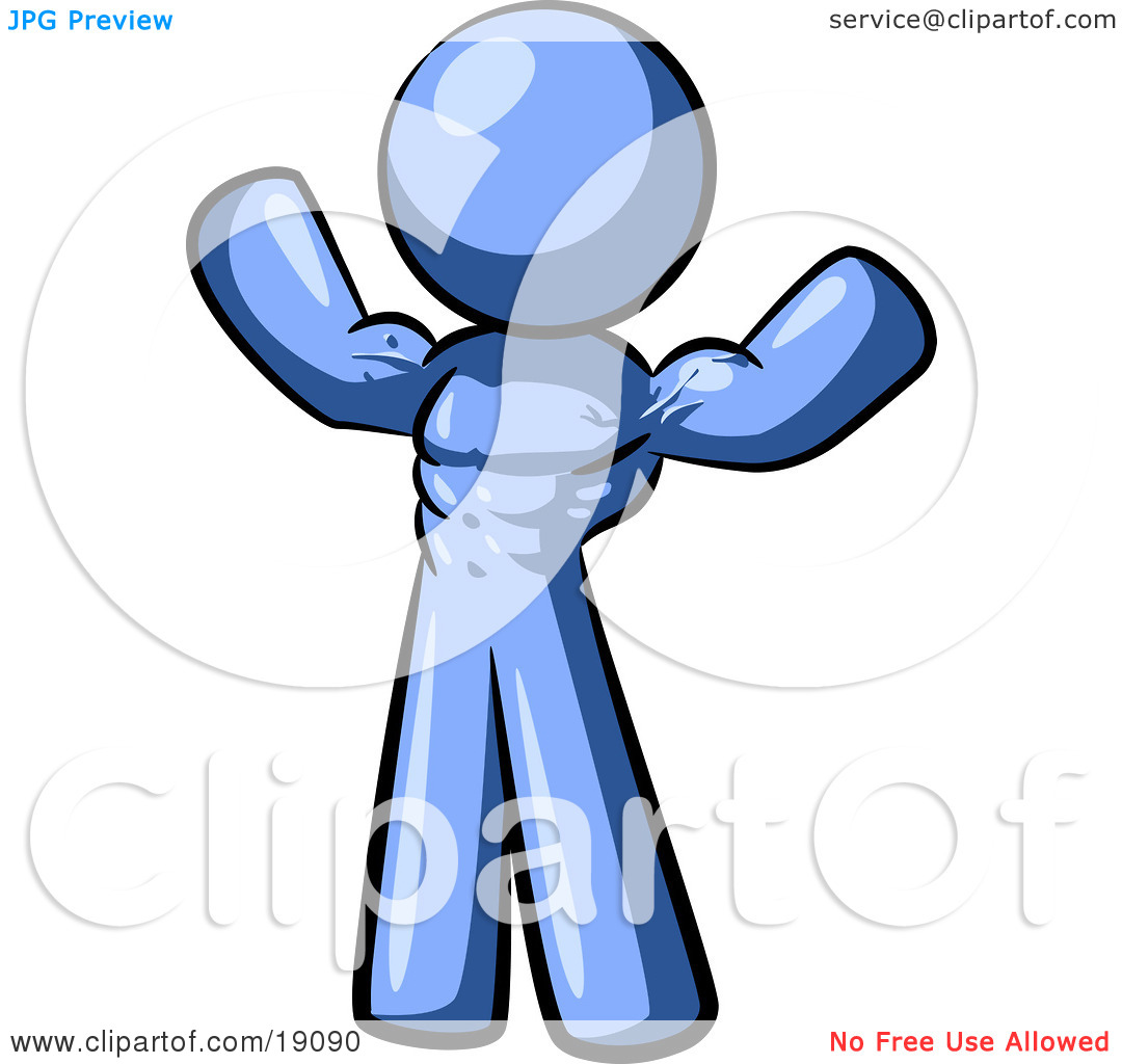 Stick People Mentoring Clipart Clipart Illustration Of A Blue