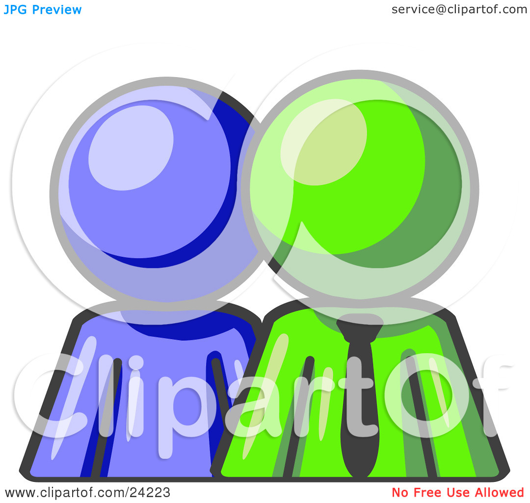 Stick People Mentoring Clipart Clipart Illustration Of A Blue Person