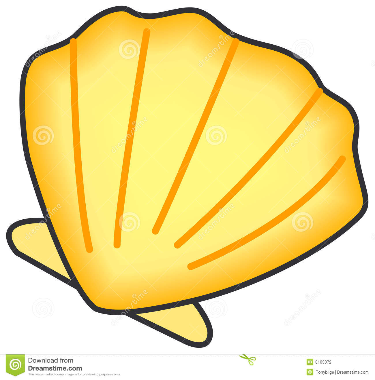 Cartoon Beach Shell Clam shell clipart - clipart kid