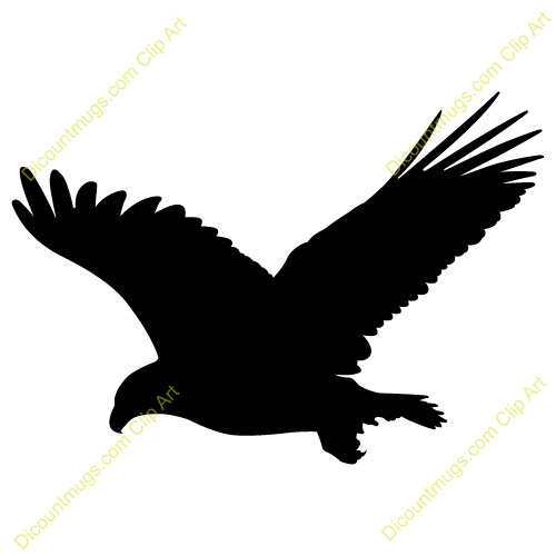 Clipart 11482 Black Bald Eagle   Black Bald Eagle Mugs T Shirts