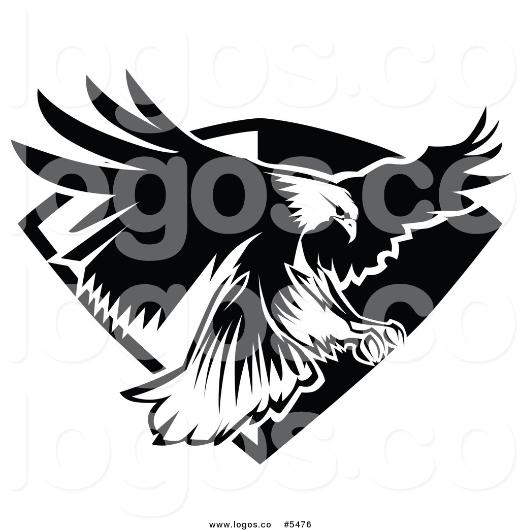 Eagle Flying Clipart Black And White Logo Of A Black And ...