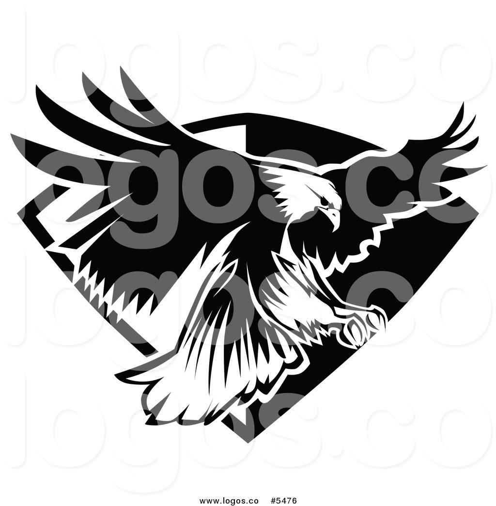 Eagle black and white logo - photo#7