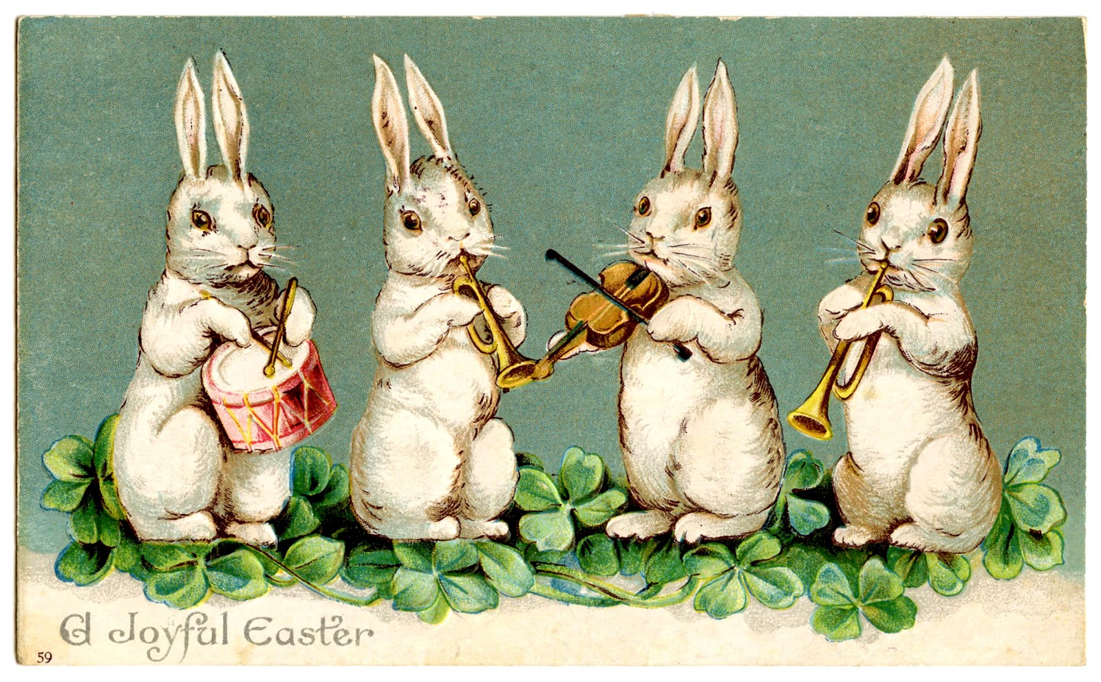 Easter Clip Art   Musical Bunnies   The Graphics Fairy