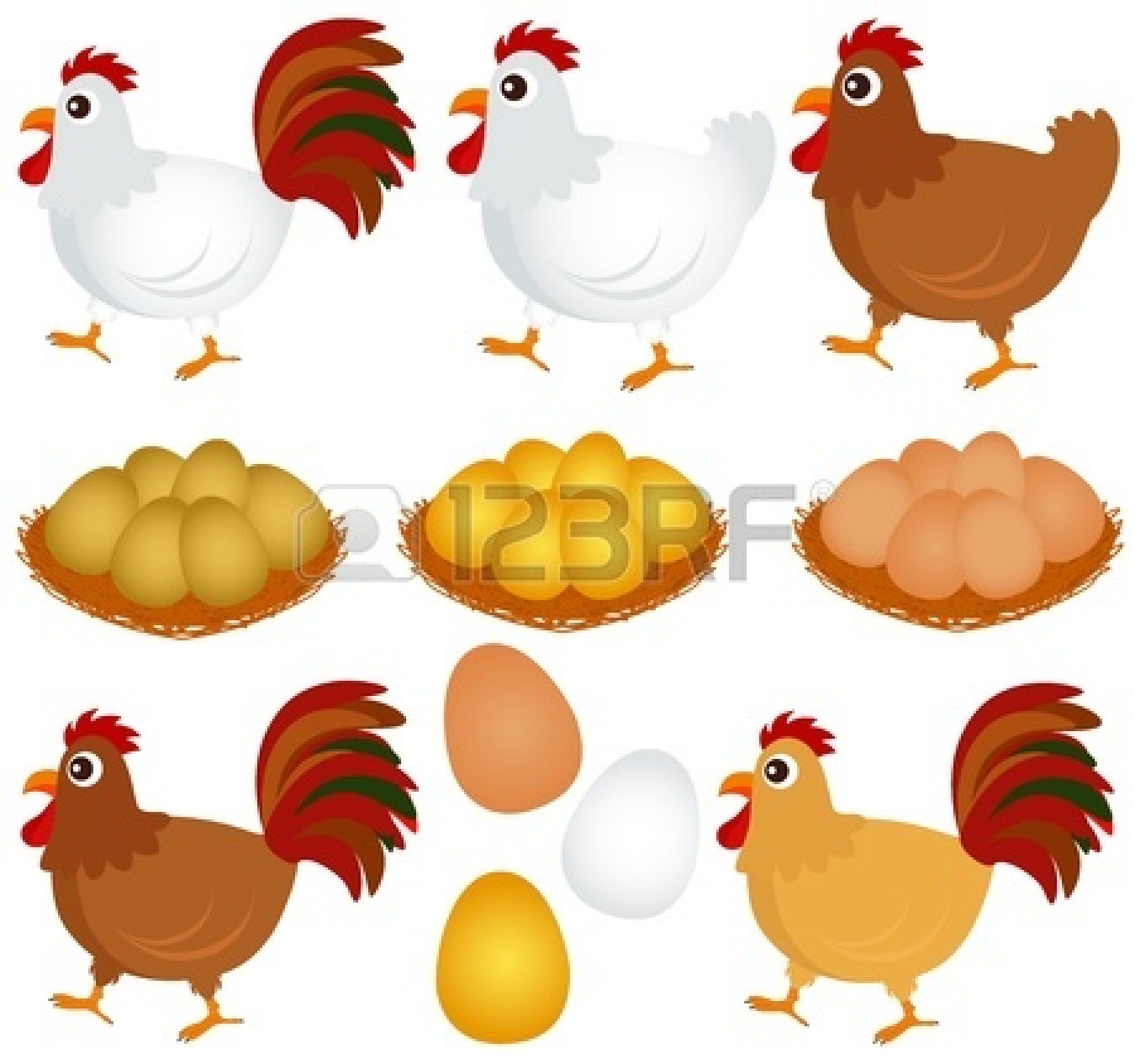 Hen On Nest Clipart   Clipart Panda   Free Clipart Images