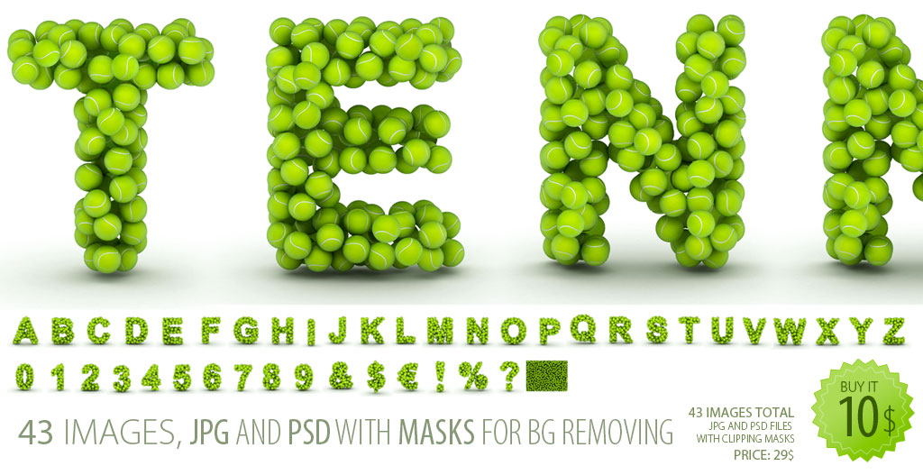 High Resolution Font Clipart Tennis Constructs Every Letter From