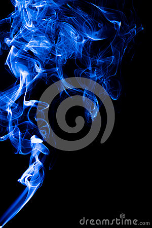 Rising Smoke With Different Curly Shapes