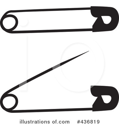 Royalty Free  Rf  Safety Pin Clipart Illustration By Michaeltravers