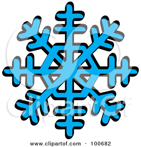 Snowstorm Clipart 100682 Blue Winter Snowflake With Eight Tips Poster