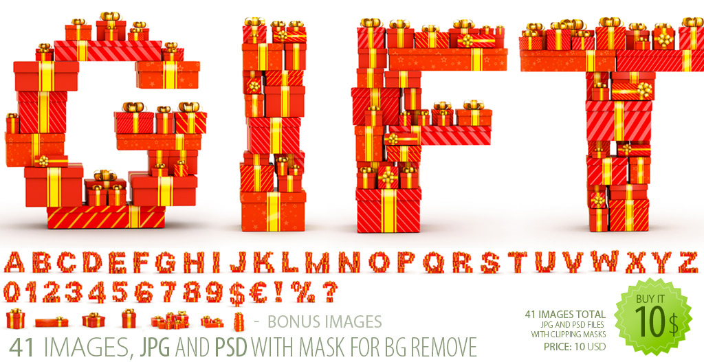With The High Resolution The   Red Gifts  Font Clipart Delivers
