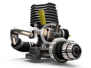 3d Car Engine   Royalty Free Clipart Picture