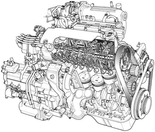 Automotive Illustration  Cutaway Ghostedand Phantom View Engines