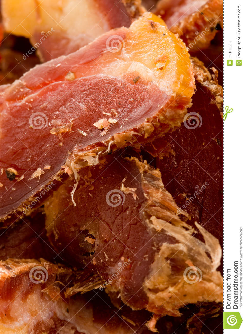 Biltong South African Dried Meat Snack Royalty Free Stock Photo