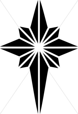 christmas star clip art black and white - photo #16