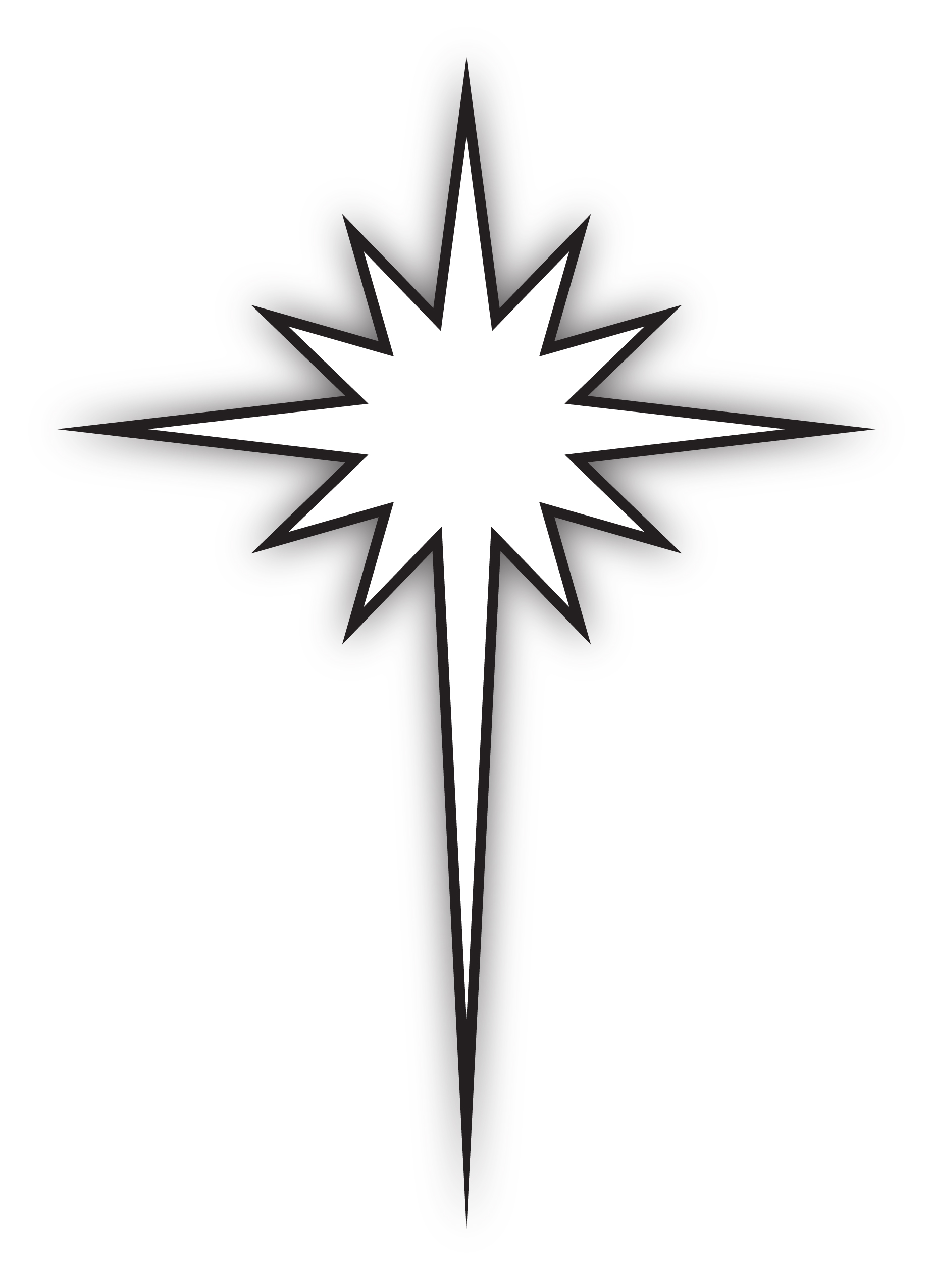 Star of bethlehem black and white clipart suggest