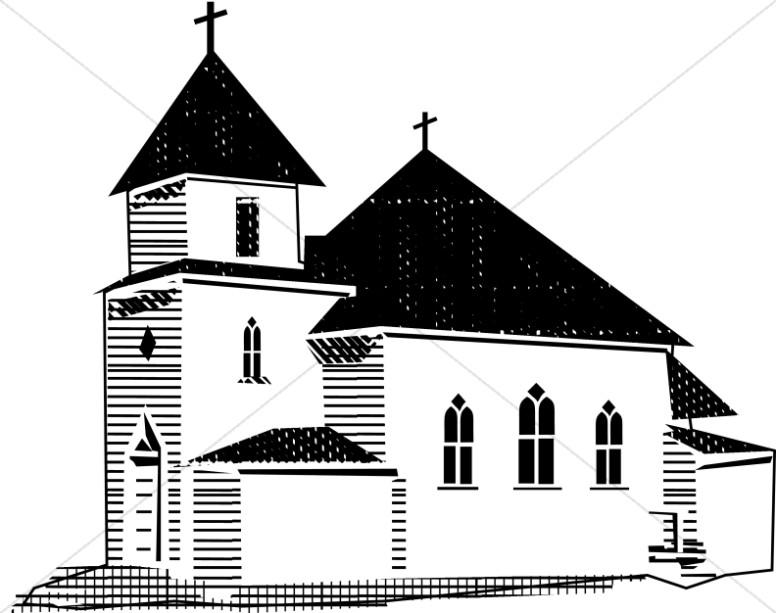 Clip Art Church Clipart Black And White black and white church clipart kid graphics images sharefaith