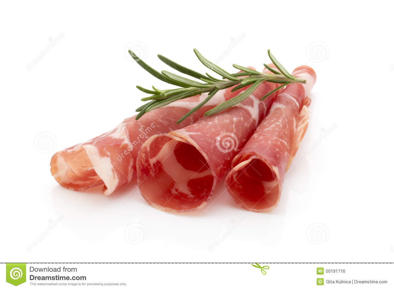 Dried Pig Meat Slices  Delicatess  Stock Photo   Image  50191716