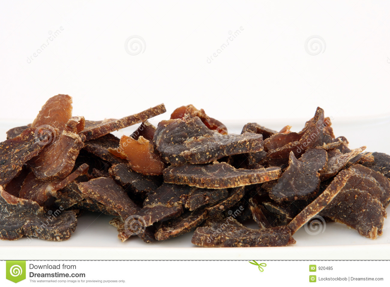 Fat High Protein Cured Dry Meat Suitable For Dieting Using Sun Dried