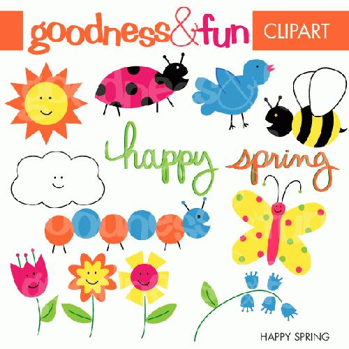 Happy Spring Clipart - Clipart Kid