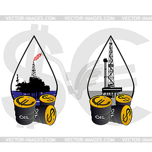 Oil And Gas Industry   Vector Clipart