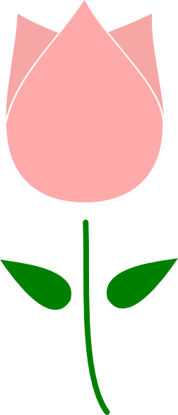 Pink Tulip Clip Art At Clker Com   Vector Clip Art Online Royalty