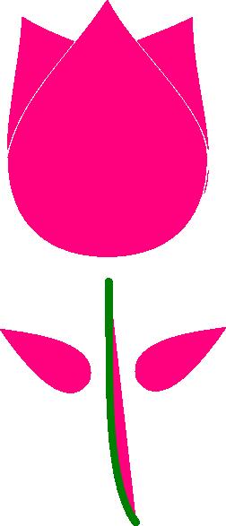 Pink Tulip Clipart - Clipart Suggest Tulips Clip Art Border