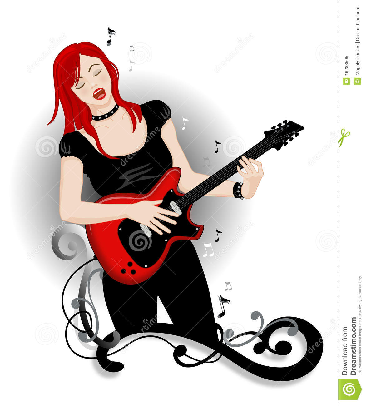Rock And Roll Girl Royalty Free Stock Photo   Image  16283505