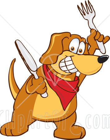 Hungry dog cartoon