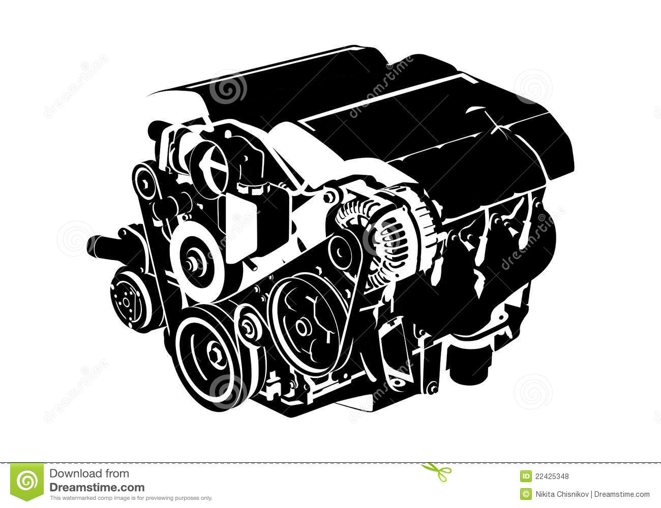 Vector Engine Royalty Free Stock Photos   Image  22425348