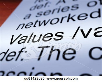 Clipart   Values Definition Closeup Showing Principles And Morality