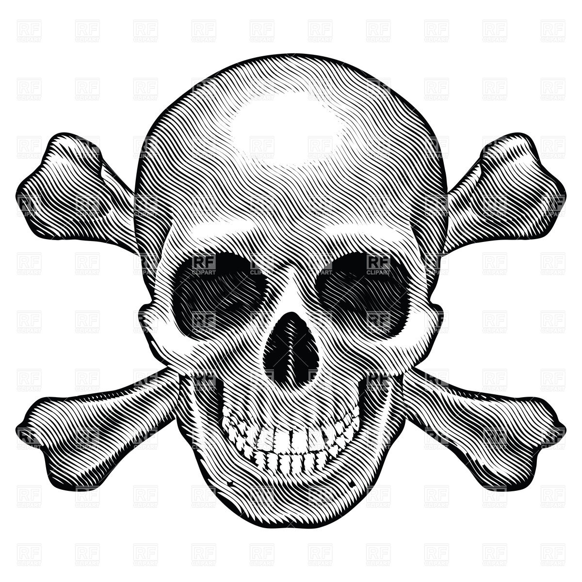Crossbones Clipart Clipart Suggest