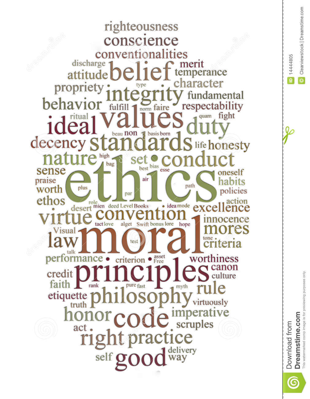 Ethics And Principles Word Cloud Royalty Free Stock Photo   Image