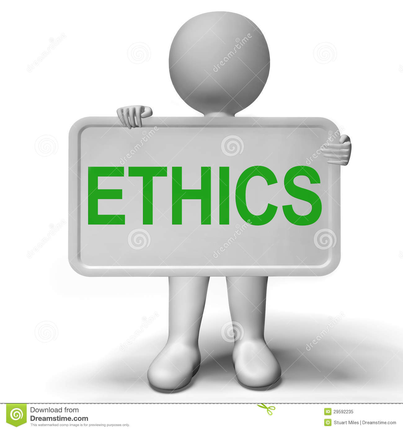 Ethics Sign Showing Values Ideology And Principles Royalty Free Stock