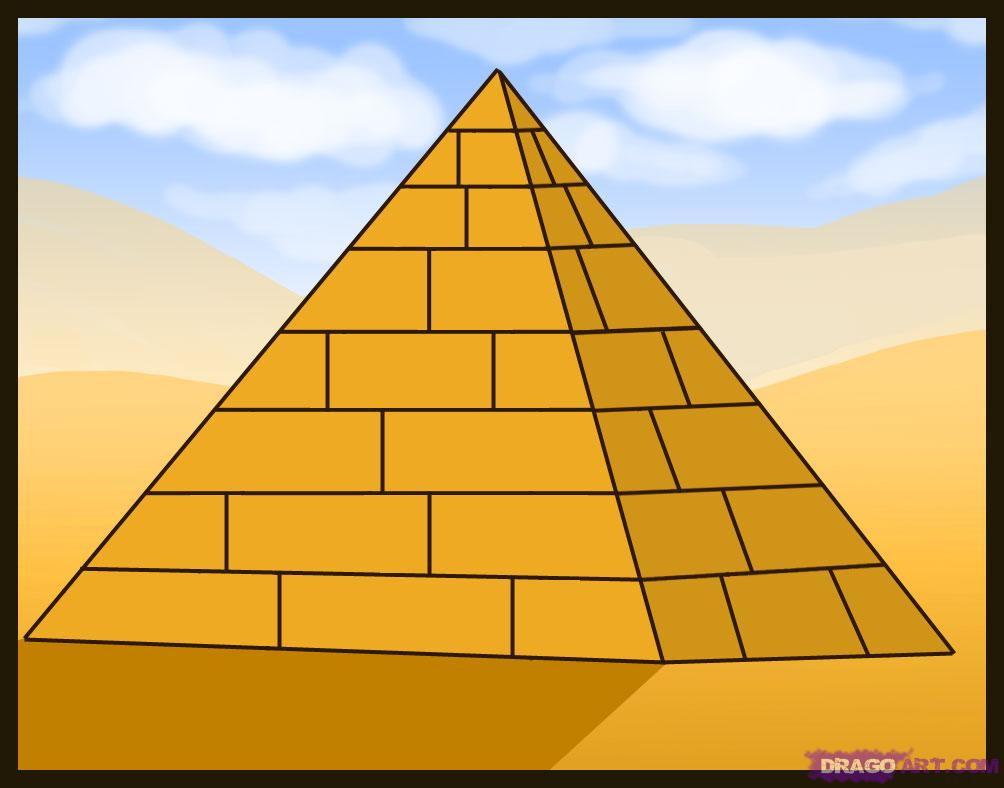 Clip Art Pyramid Clip Art 3d pyramid clipart kid how to draw a step by buildings landmarks places