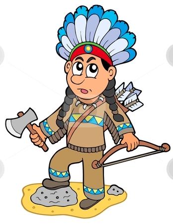 Clip Art Indian Clip Art indian boy clipart kid with axe and bow stock vector axe