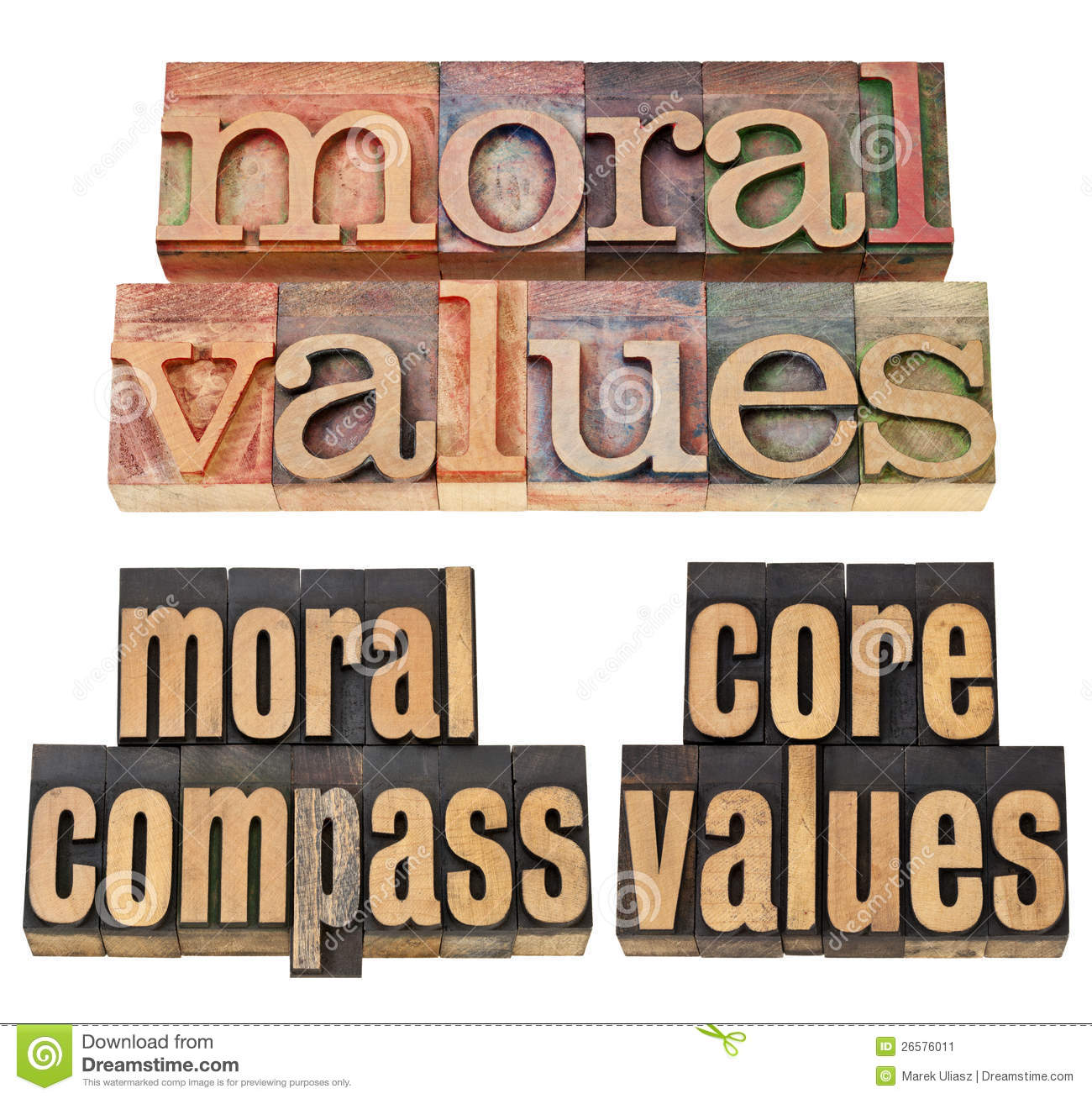 Moral Values Moral Compass Core Values   Ethics Concept   A Collage
