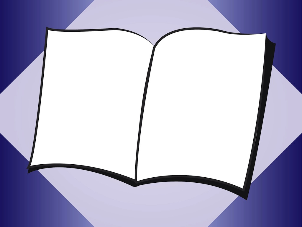 clipart open book blank pages - photo #28