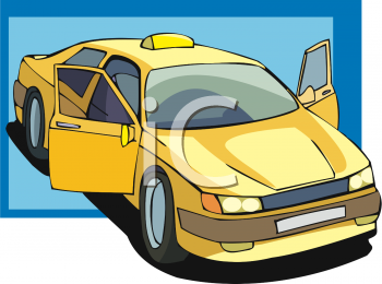 Picture Of A Taxi Cab  This Is A Clip Art Image Showing A Yellow Cab