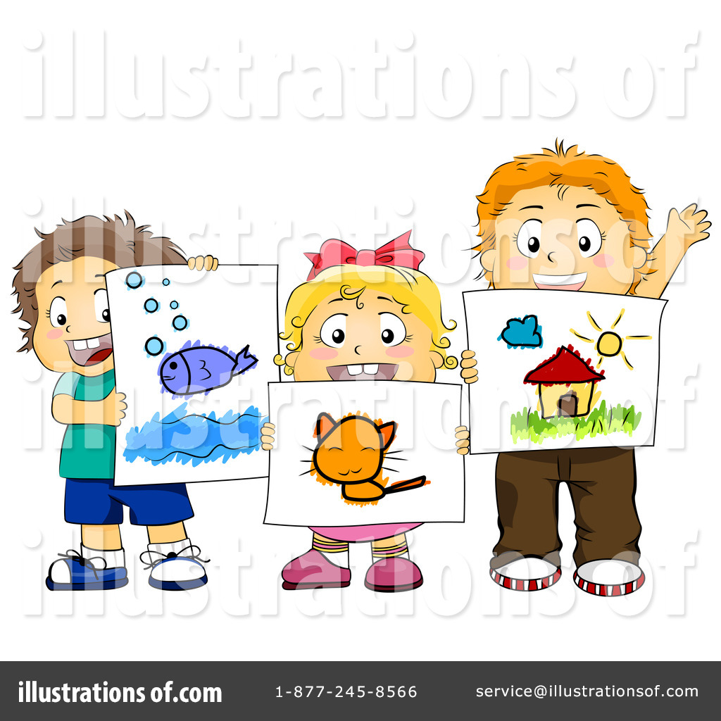 Royalty Free  Rf  Art Class Clipart Illustration By Bnp Design Studio