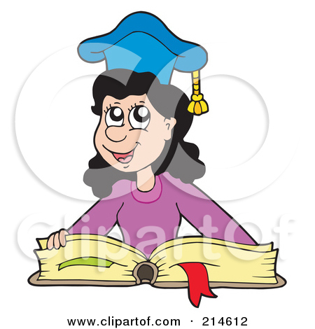 Royalty Free  Rf  Clipart Illustration Of A Smart School Girl Wearing