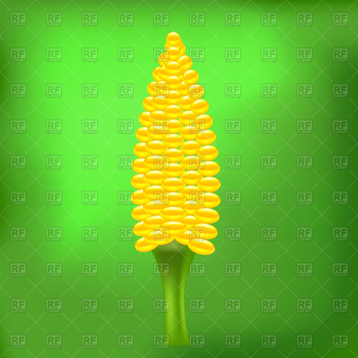 Yellow Cab Corn On Abstract Green Background 76964 Download Royalty