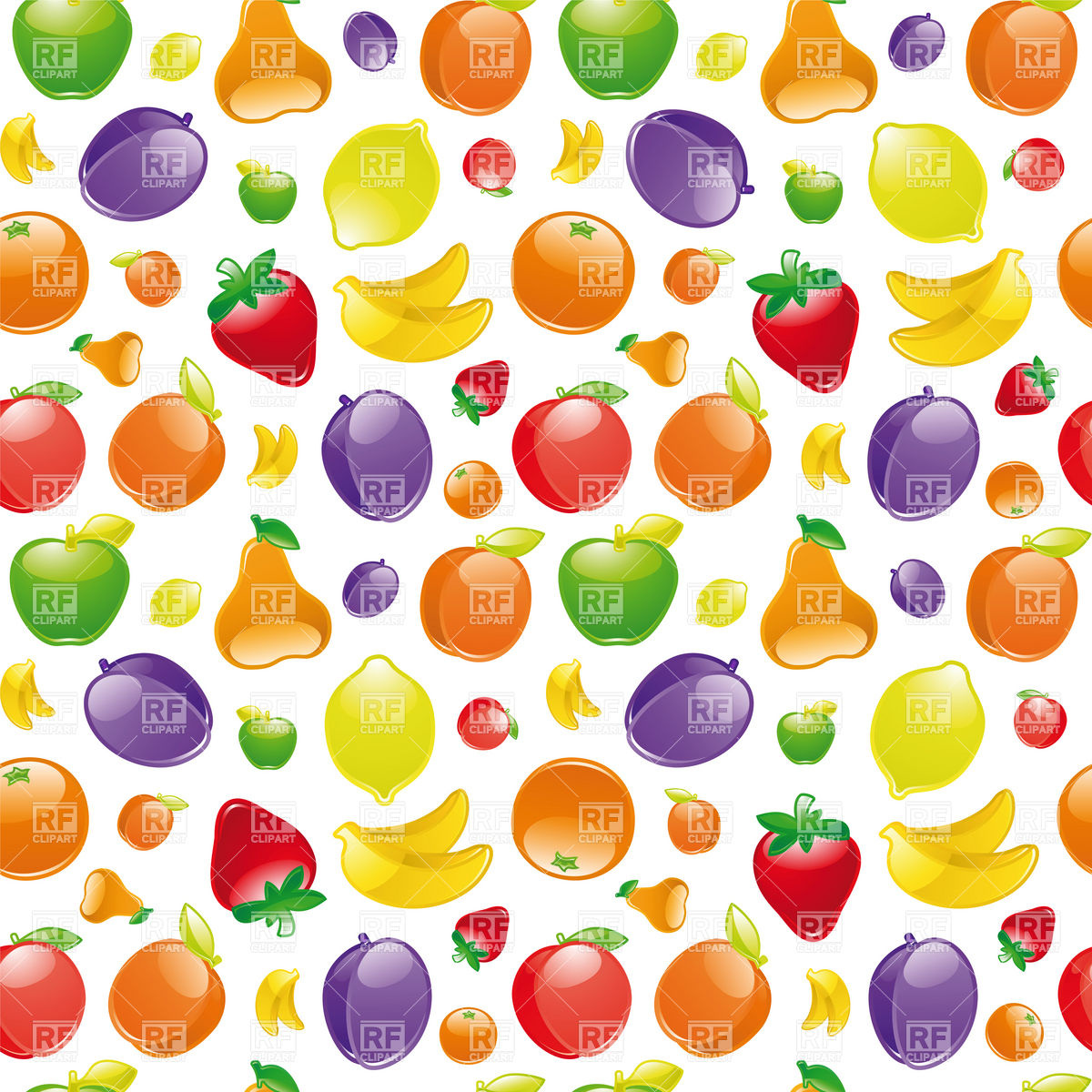 Background With Fruits Download Royalty Free Vector Clipart