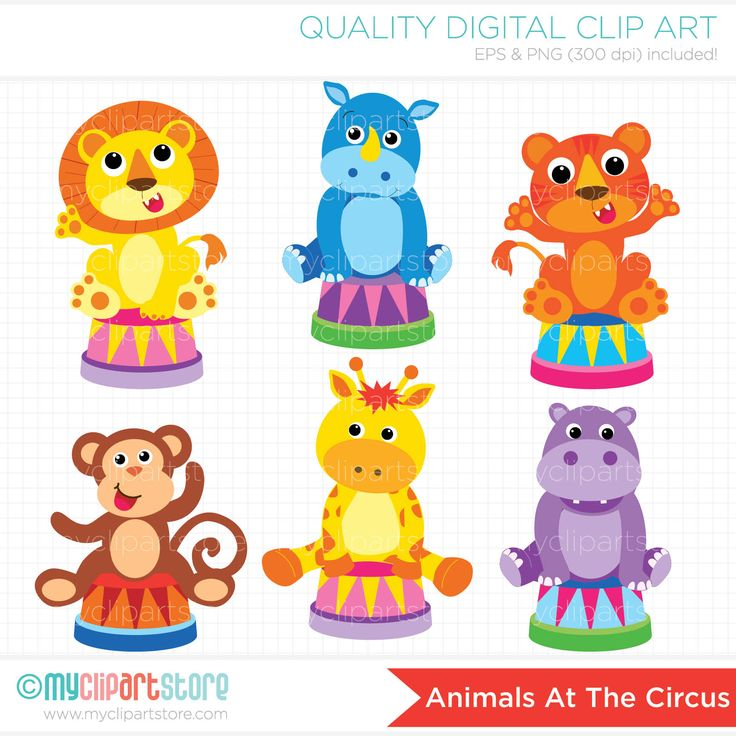 Circus Animals Clipart   Circo   Pinterest