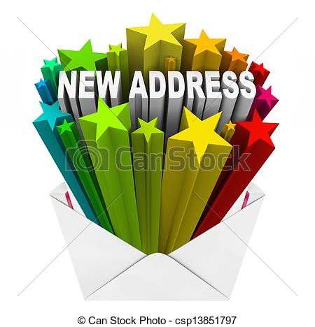 New Address Envelope Letter Mail Stock Photos And Images  1055 New