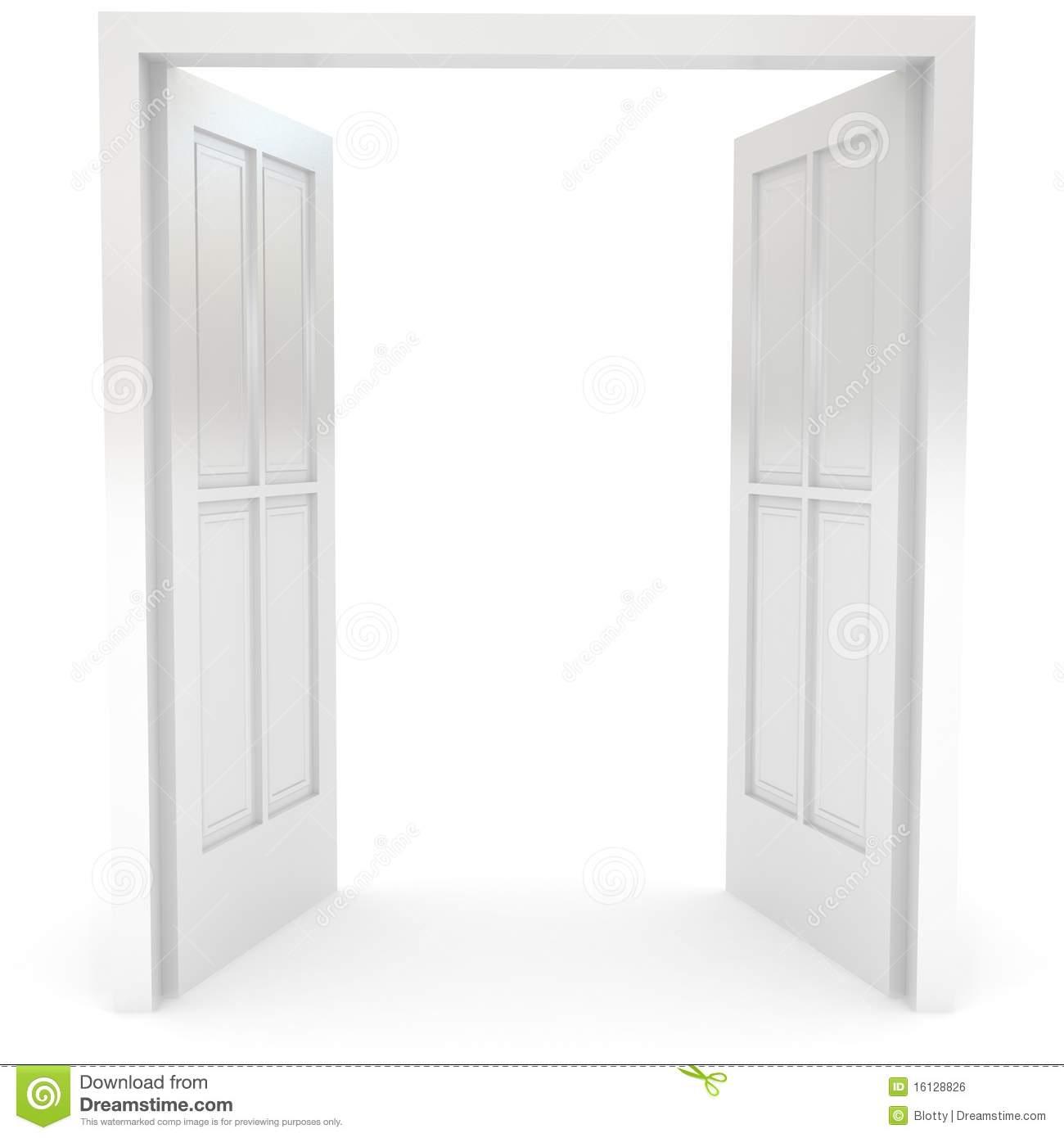 Open double door clipart clipart open door open door over for 0pen door