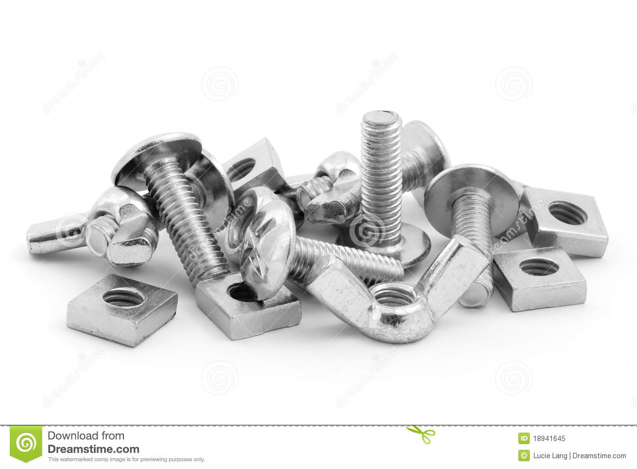 Nuts And Bolts Black And White Clipart - Clipart Kid