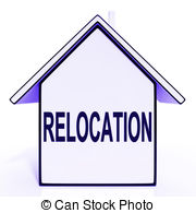 Relocation House Means New Residency Or Address Clip Art
