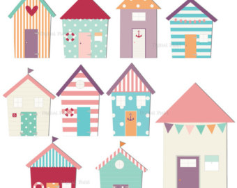 Beach House Clipart   Etsy
