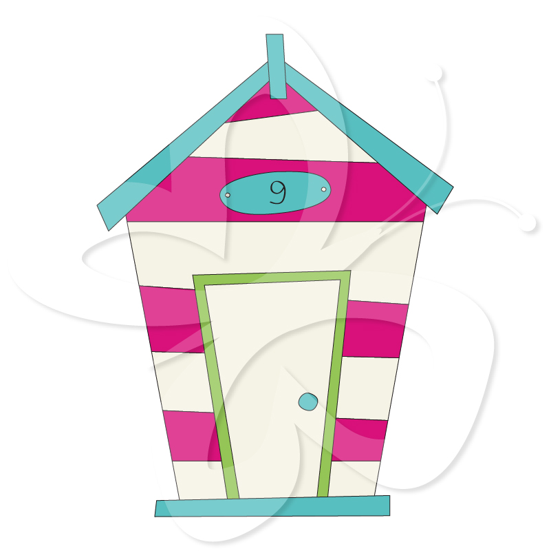 Beach Houses   Creative Clipart Collection