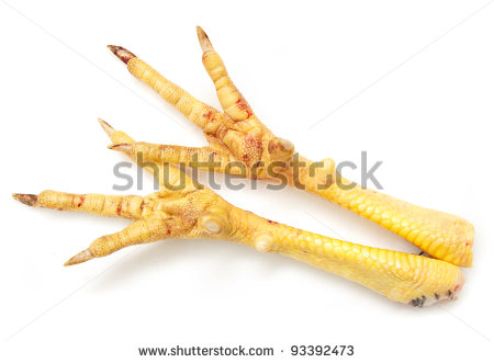 Chicken Feet Clipart Chicken Feet On White