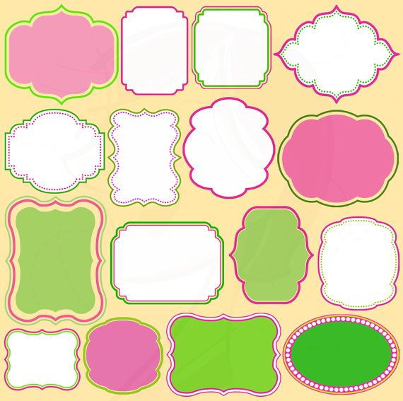 Diy Birthday Instant Download Cuteframes Shapesclipart Cute Frames
